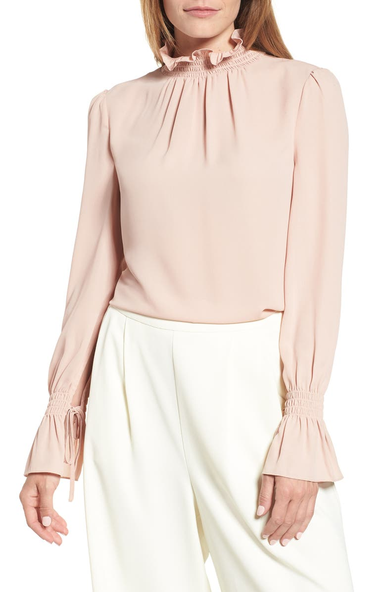 VINCE CAMUTO Smocked Neck Blouse, Main, color, 666
