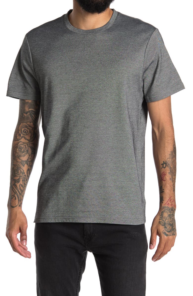 14TH AND UNION 14th & Union Crew Neck Short Sleeve Performance T-Shirt, Main, color, BLACK