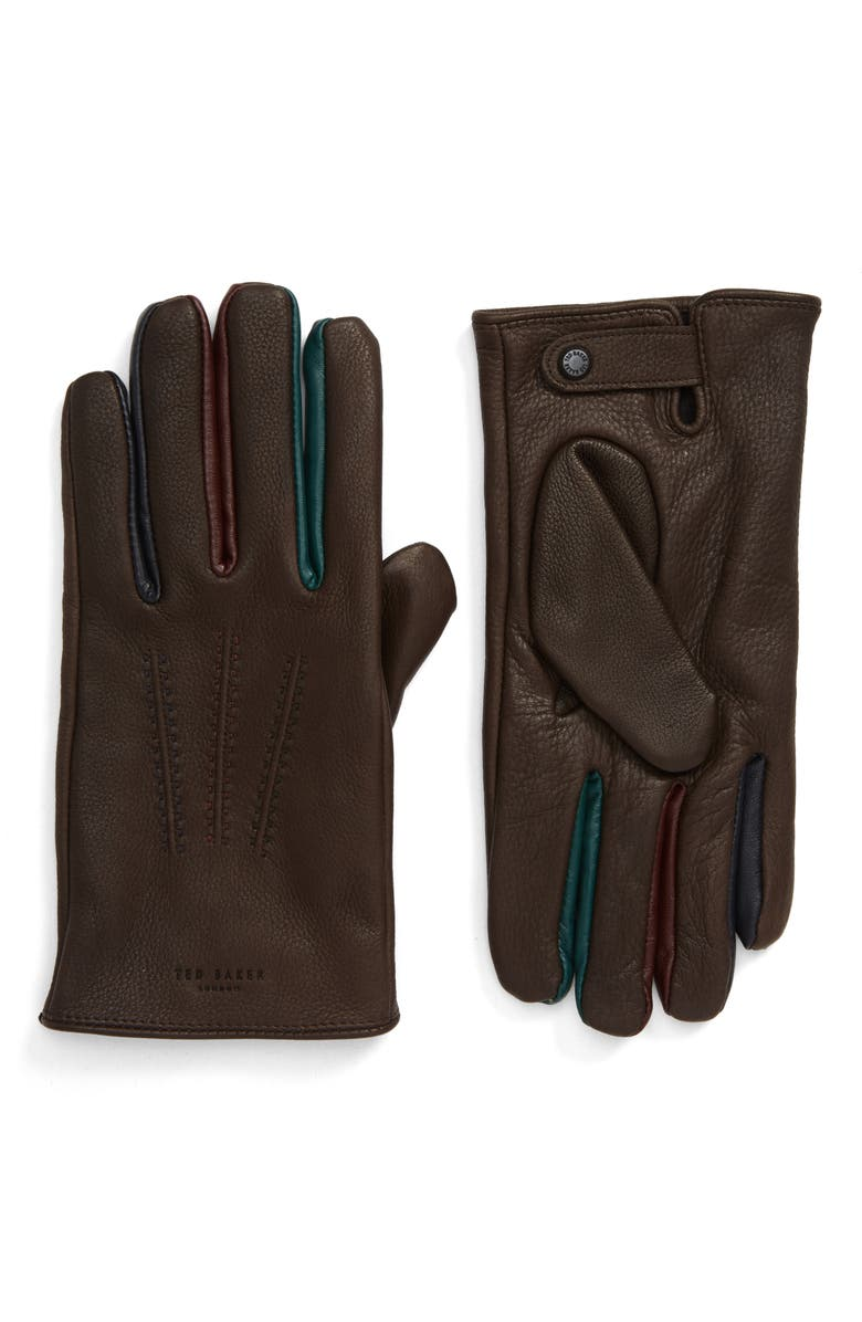 TED BAKER LONDON Parm Leather Gloves, Main, color, 211