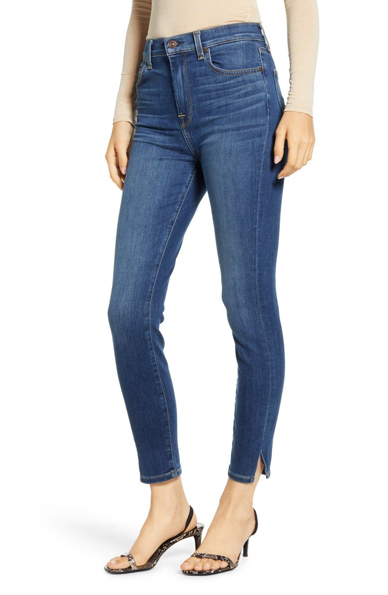 7 FOR ALL MANKIND<SUP>®</SUP> 7 For All Mankind High Waist Side Snip Ankle Skinny Jeans, Main, color, MODERN HERITAGE