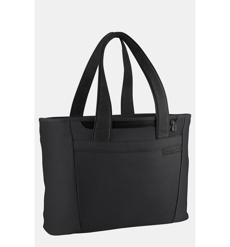 BRIGGS & RILEY Baseline Large Shopping Tote, Main, color, BLACK