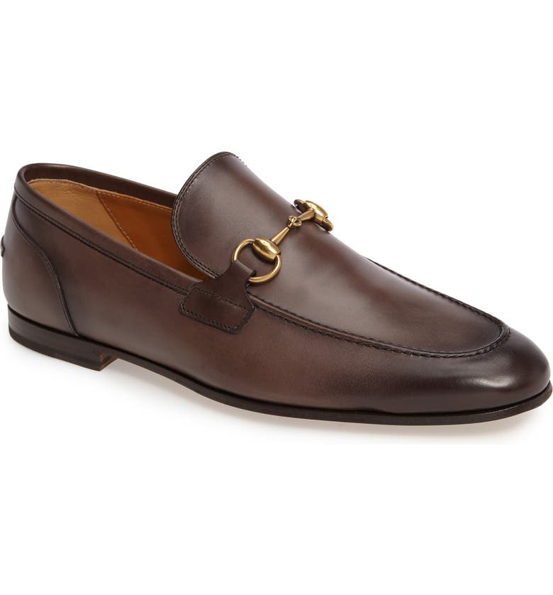 GUCCI Jordaan Horsebit Loafer, Main, color, COCOA LEATHER