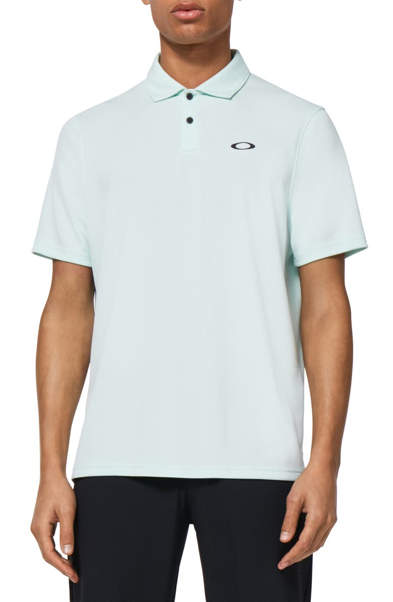 OAKLEY Icon Performance Golf Polo, Main, color, BAY GREEN