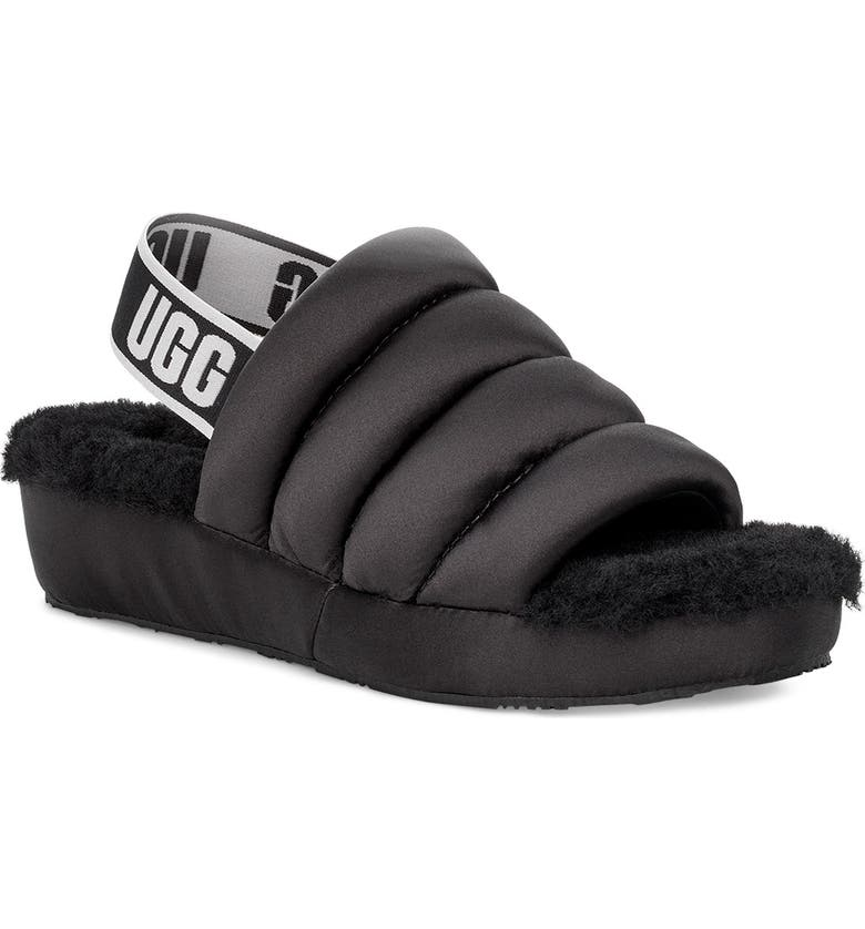 UGG<SUP>®</SUP> Puff Yeah Slide, Main, color, 001