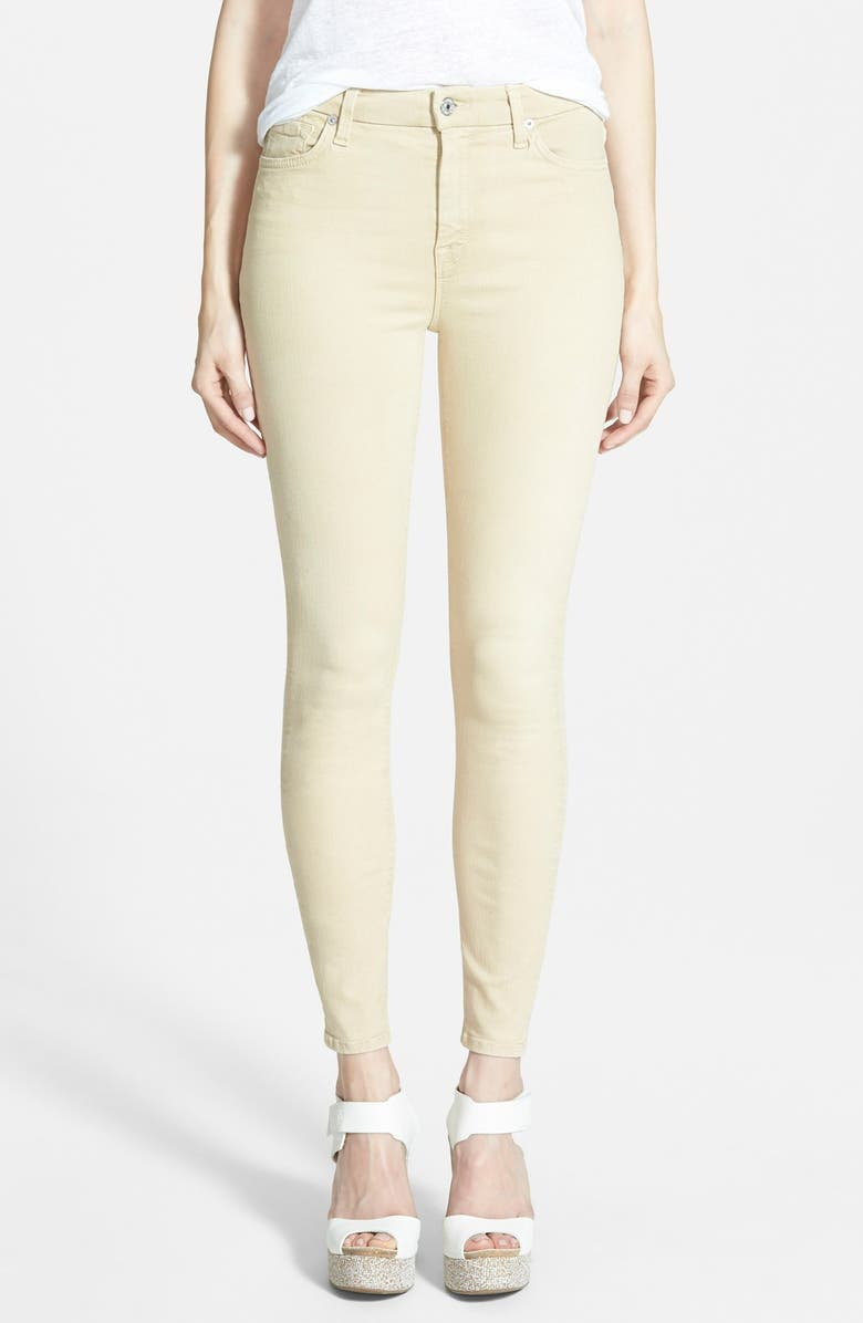 7 FOR ALL MANKIND <sup>®</sup> High Rise Ankle Skinny Jeans, Main, color, 201