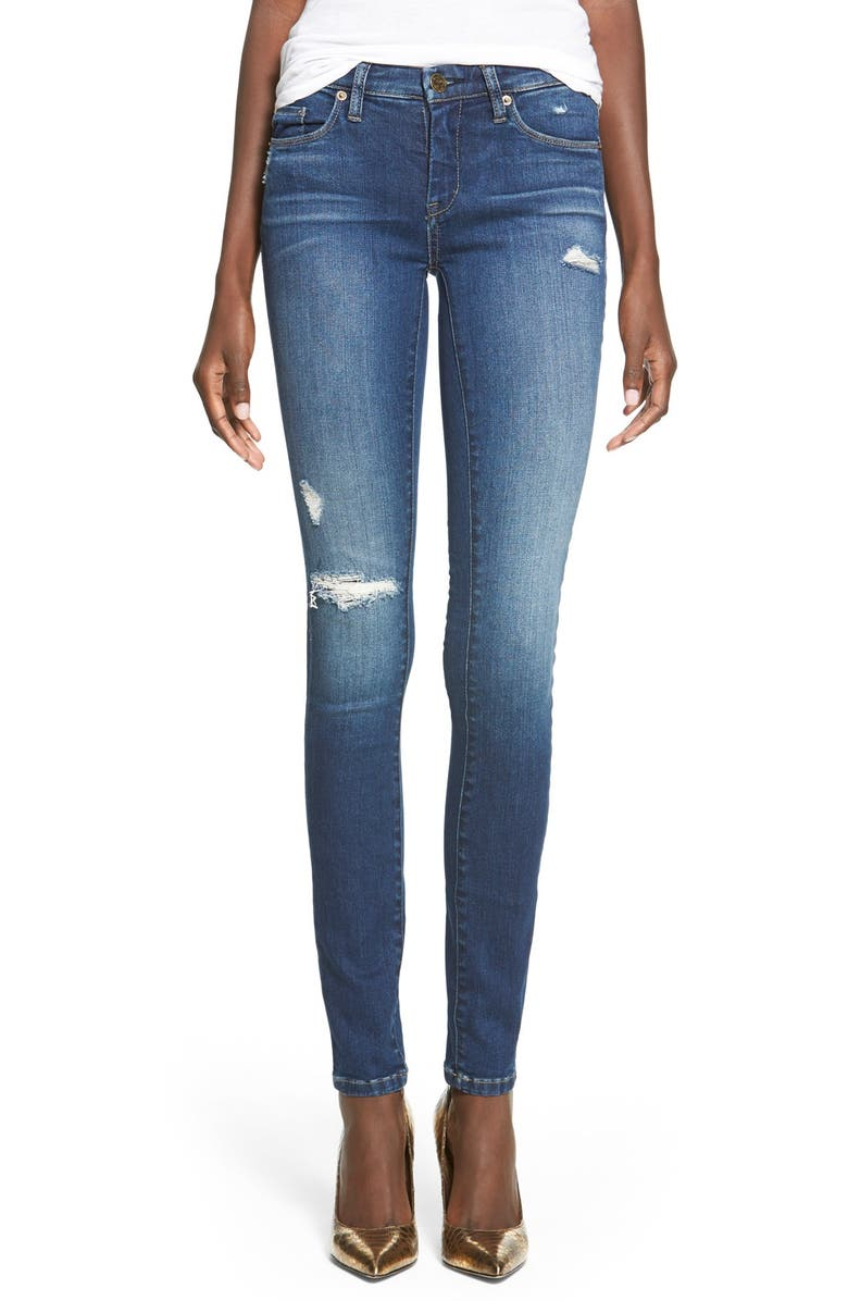 BLANKNYC 'Hotel' Distressed Skinny Jeans, Main, color, 420