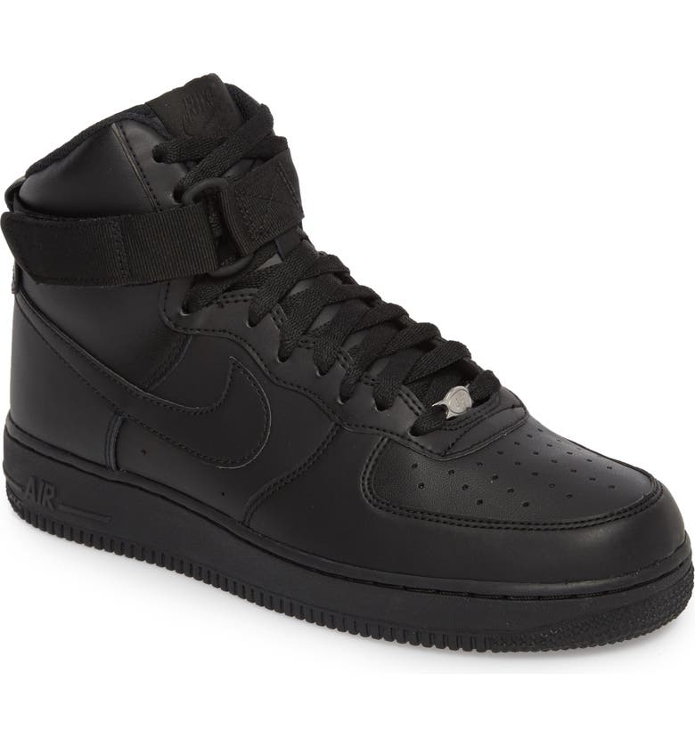 NIKE Air Force 1 High '07 Sneaker, Main, color, BLACK/ BLACK