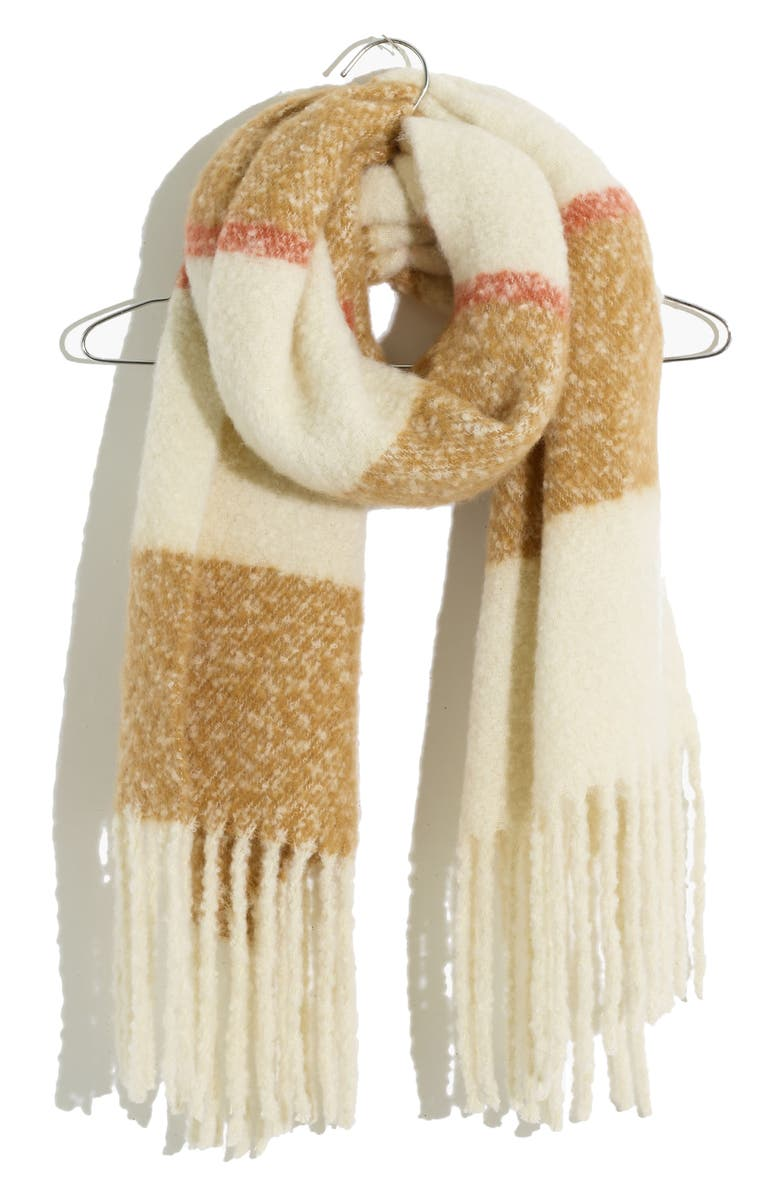 MADEWELL Brushed Scarf, Main, color, TOFFEE MULTI