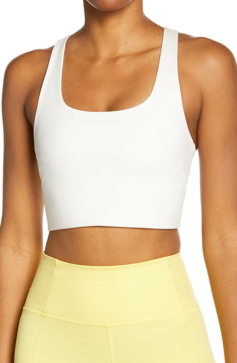 GIRLFRIEND COLLECTIVE Paloma Sports Bra, Main, color, IVORY