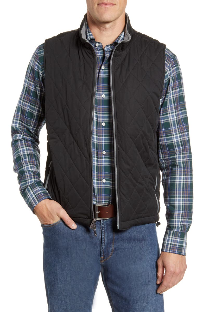 PETER MILLAR All Day Reversible Quilted Vest, Main, color, 001