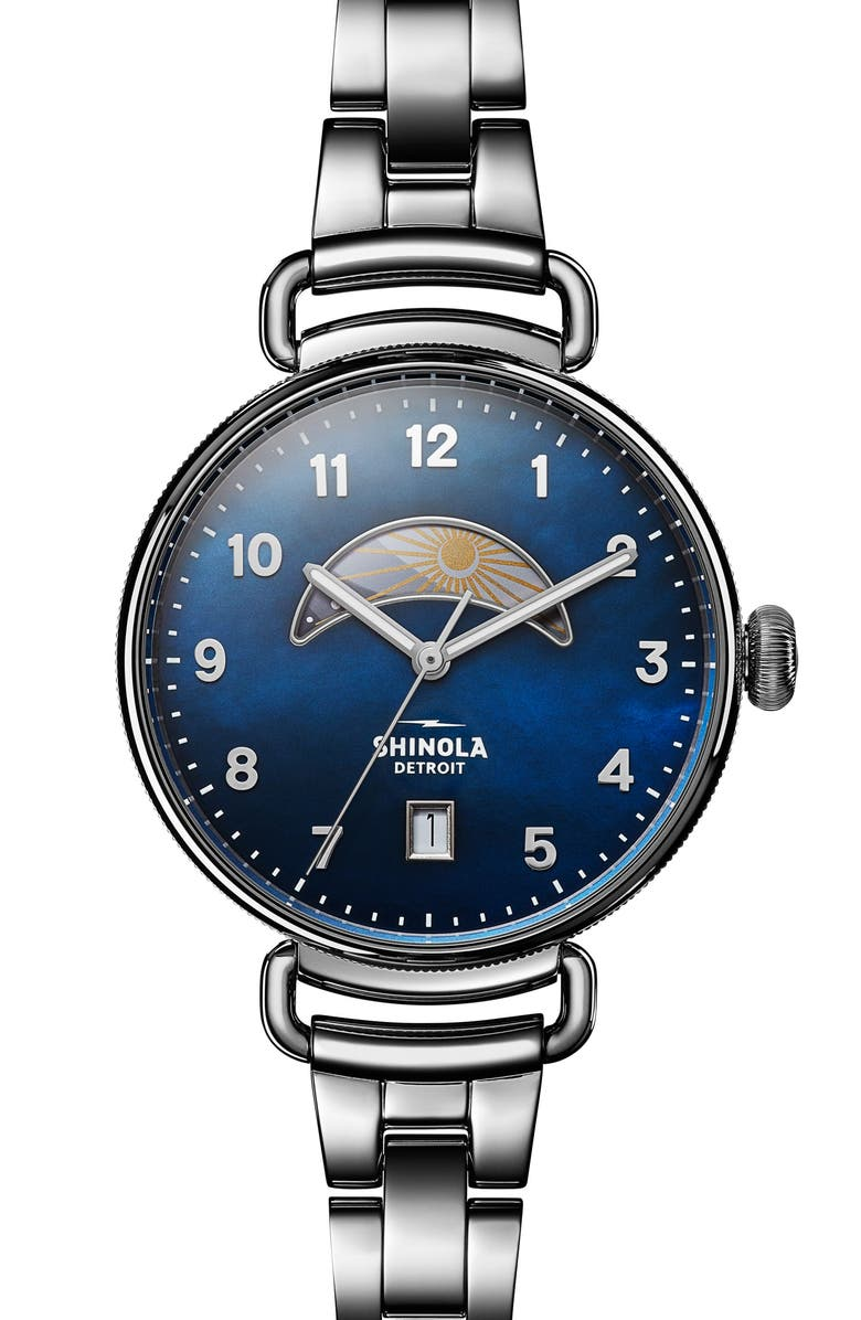 SHINOLA The Canfield Bracelet Watch, 38mm, Main, color, 040