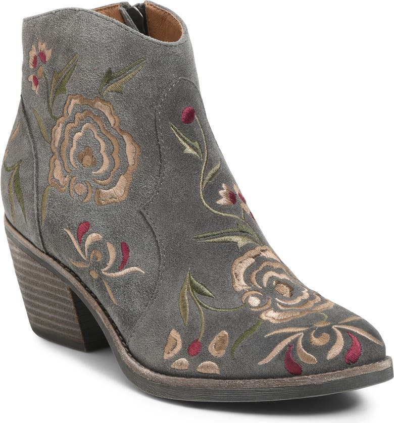 SÖFFT Westmont Floral Embroidered Bootie, Main, color, 030
