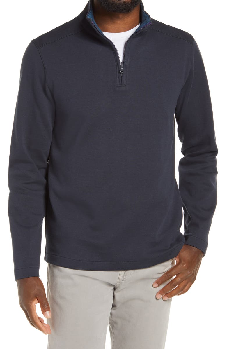 BONOBOS Daily Grind Half Zip Pullover, Main, color, MIDNIGHT SHOW W/ NIGHT SKY