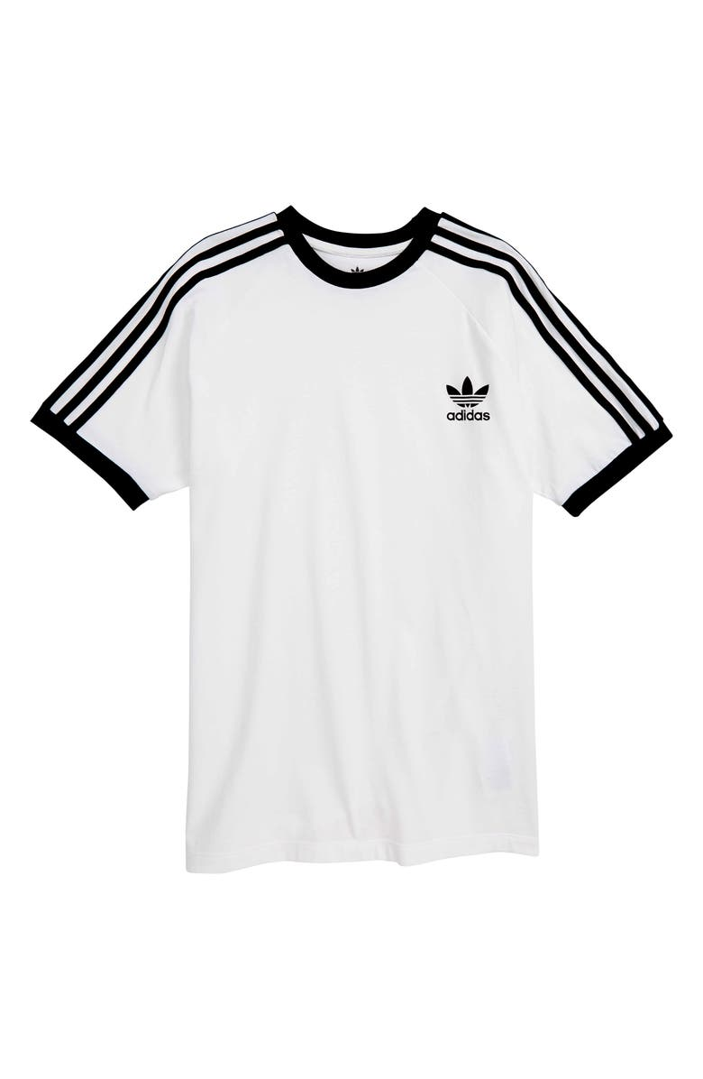 ADIDAS ORIGINALS 3-Stripes T-Shirt, Main, color, 100