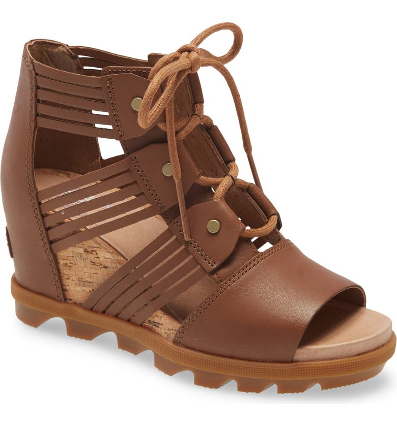 SOREL Joanie II Lace-Up Sandal, Main, color, VELVET TAN