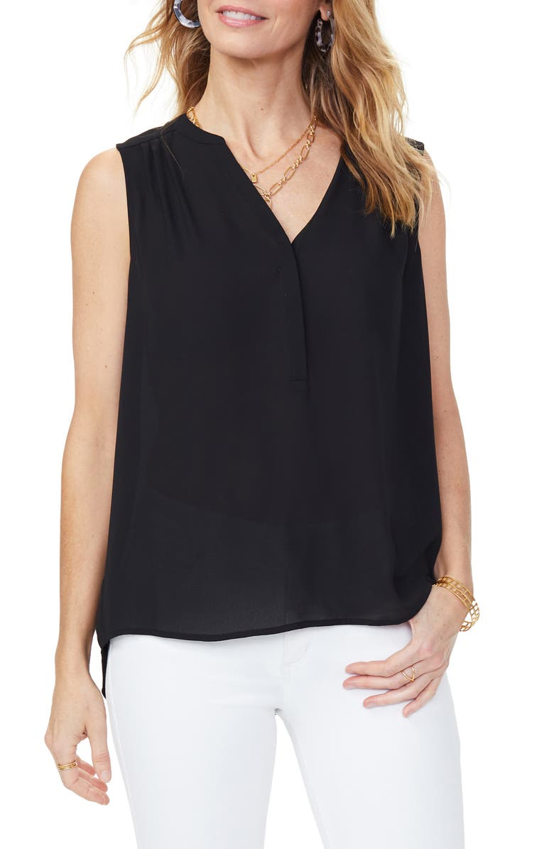 CURVES 360 BY NYDJ Perfect Sleeveless Blouse, Main, color, BLACK