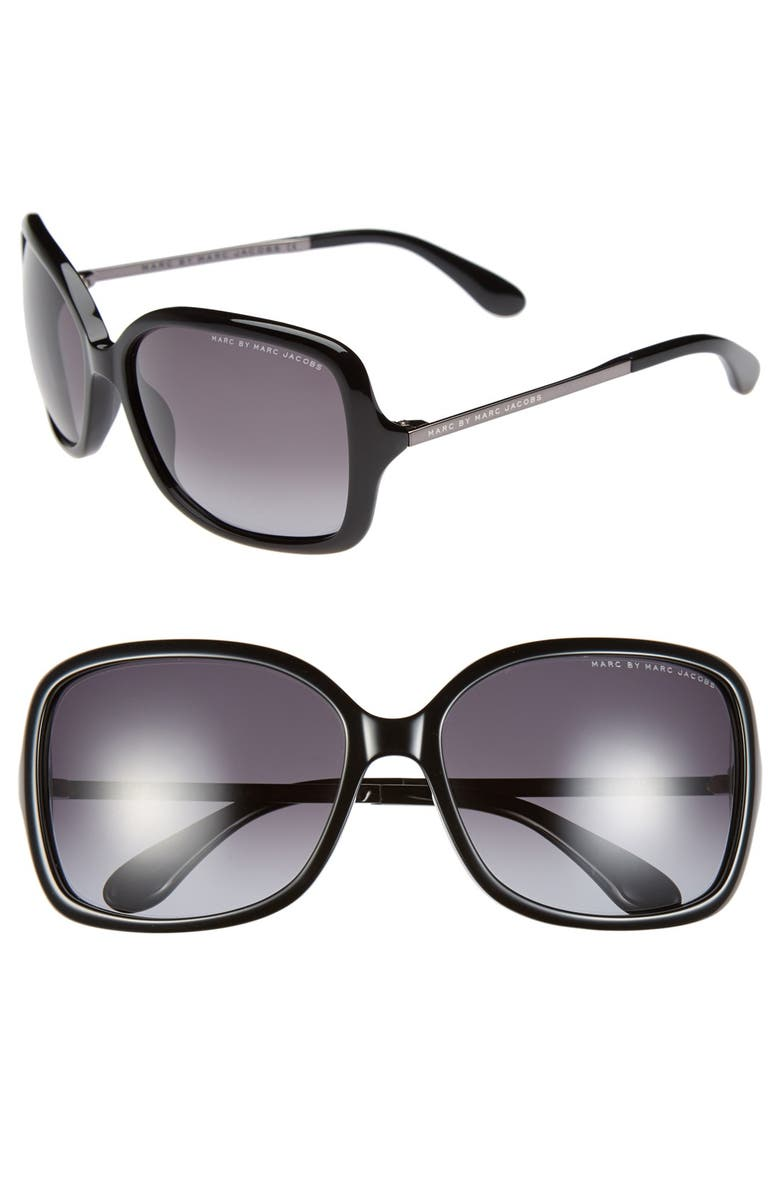 MARC BY MARC JACOBS 59mm Sunglasses, Main, color, 001