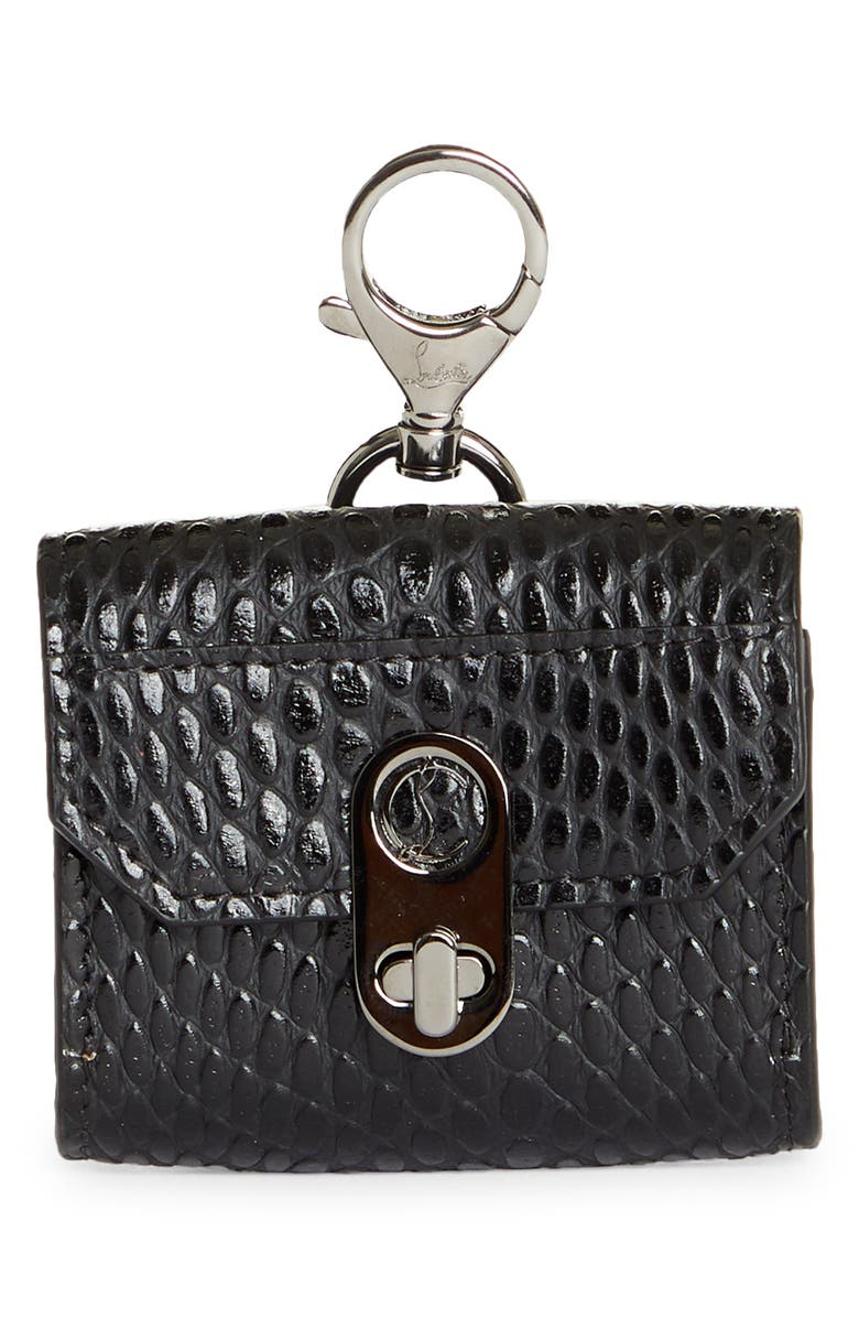 CHRISTIAN LOUBOUTIN Elisa Embossed Leather AirPod Pro Case, Main, color, 003