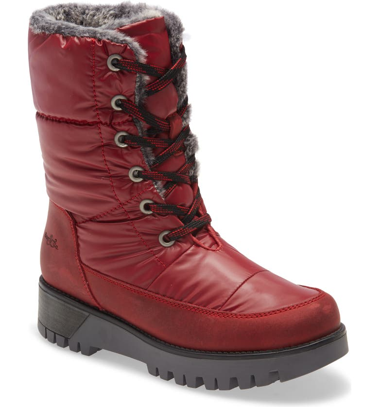 BOS. & CO. Atlas Primaloft<sup>®</sup> Waterproof Lace-Up Hiking Boot, Main, color, RED LEATHER