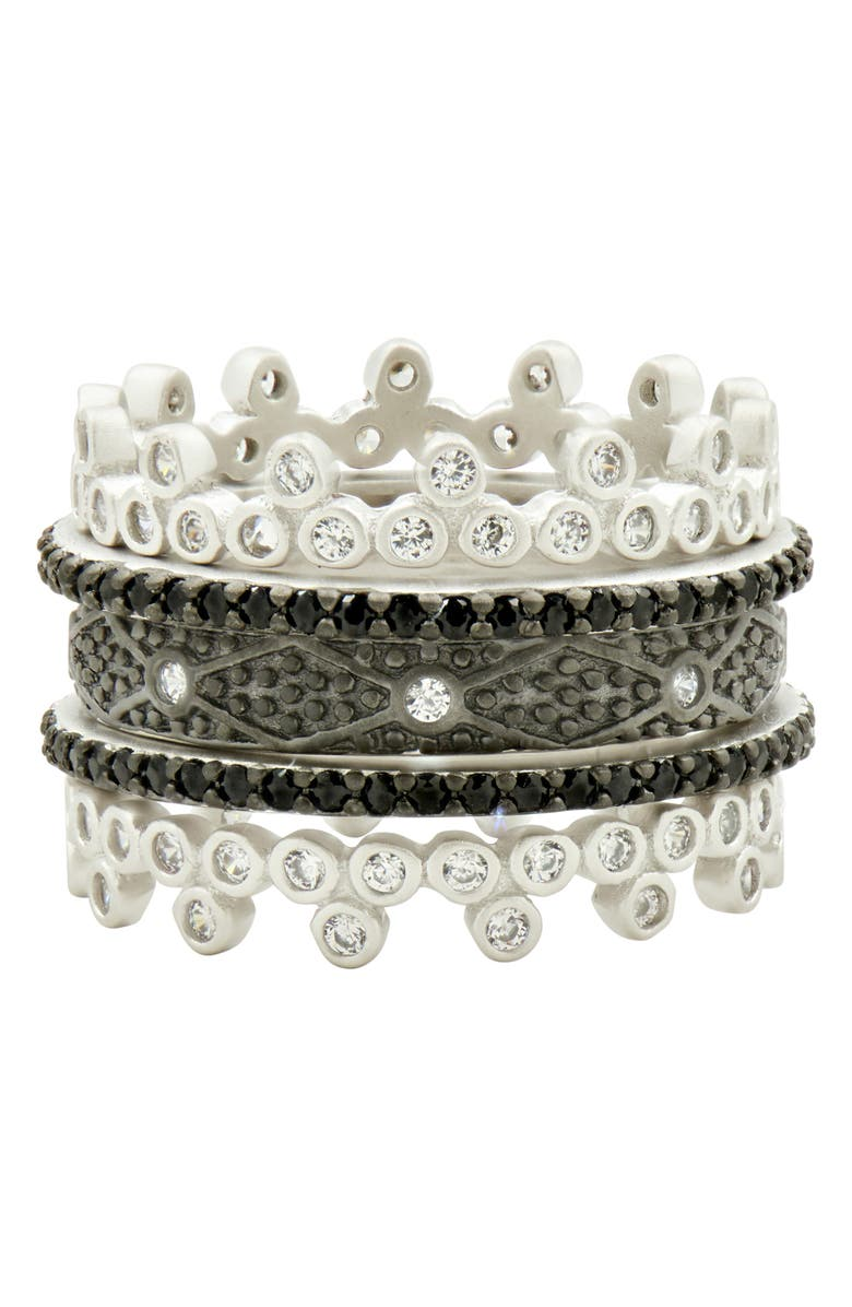 FREIDA ROTHMAN Industrial Finish 5-Set Stackable Rings, Main, color, 049
