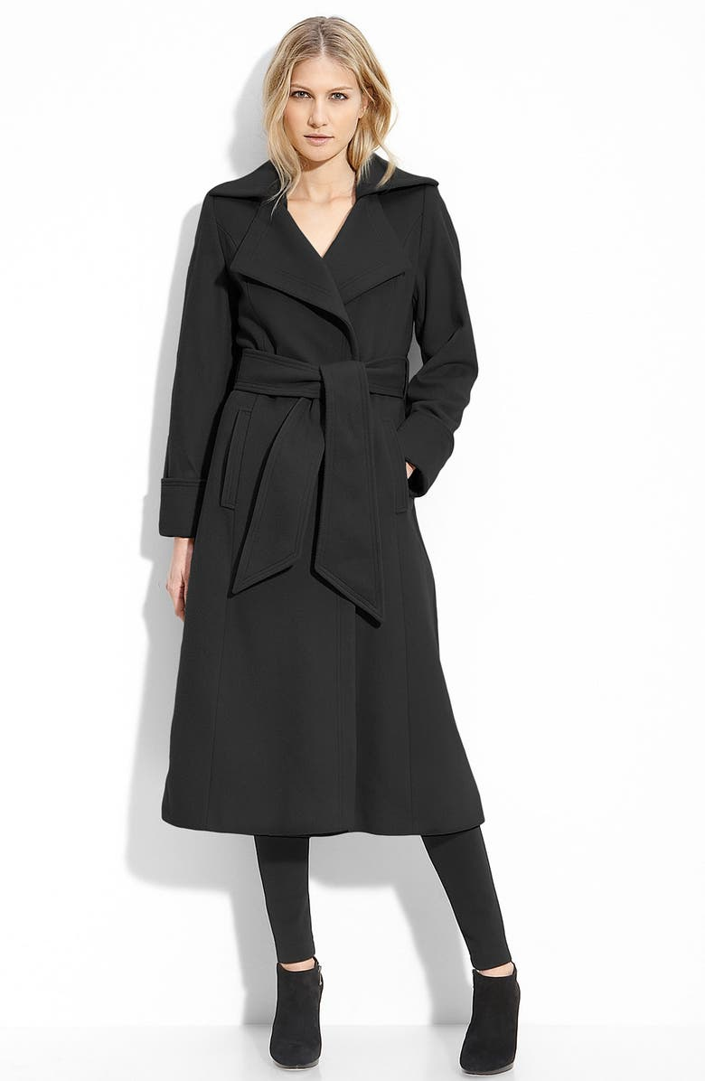 GEORGE SIMONTON Couture Long Wrap Coat, Main, color, 001