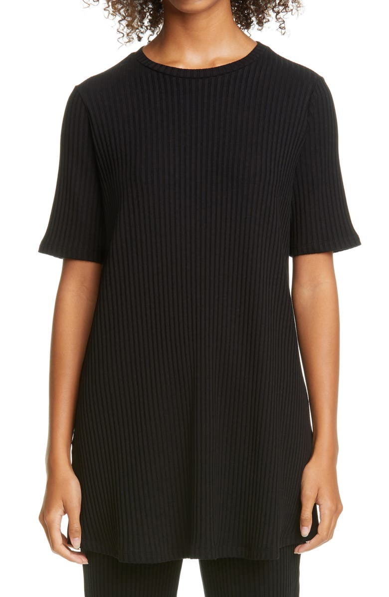 EILEEN FISHER Ribbed Tunic, Main, color, 002