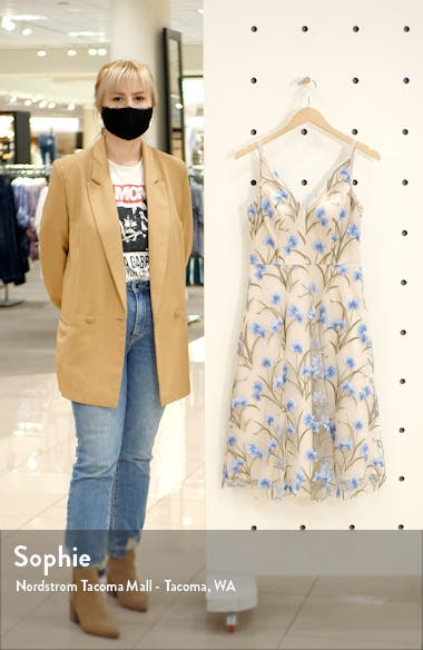 Floral Embroidered Fit & Flare Dress, sales video thumbnail