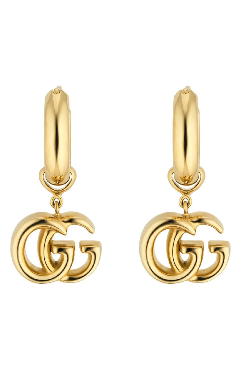 GUCCI GG Running Drop Earrings, Main, color, YELLOW GOLD