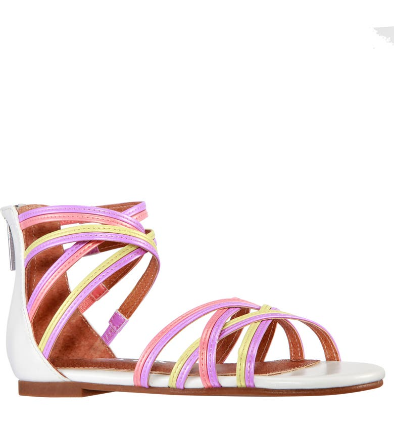 NINA Cleo Sandal, Main, color, MULTI PASTEL