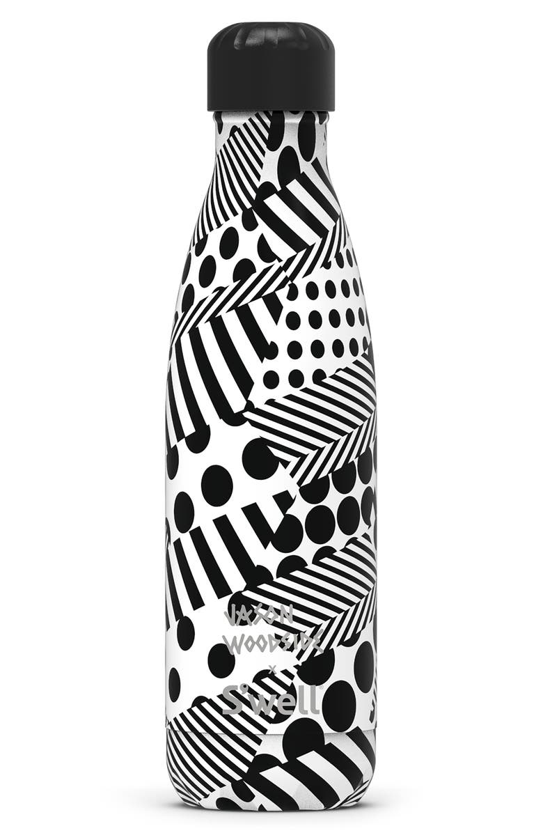 S'WELL x Jason Woodside 17-Ounce Insulated Stainless Steel Water Bottle, Main, color, ZIGZAG