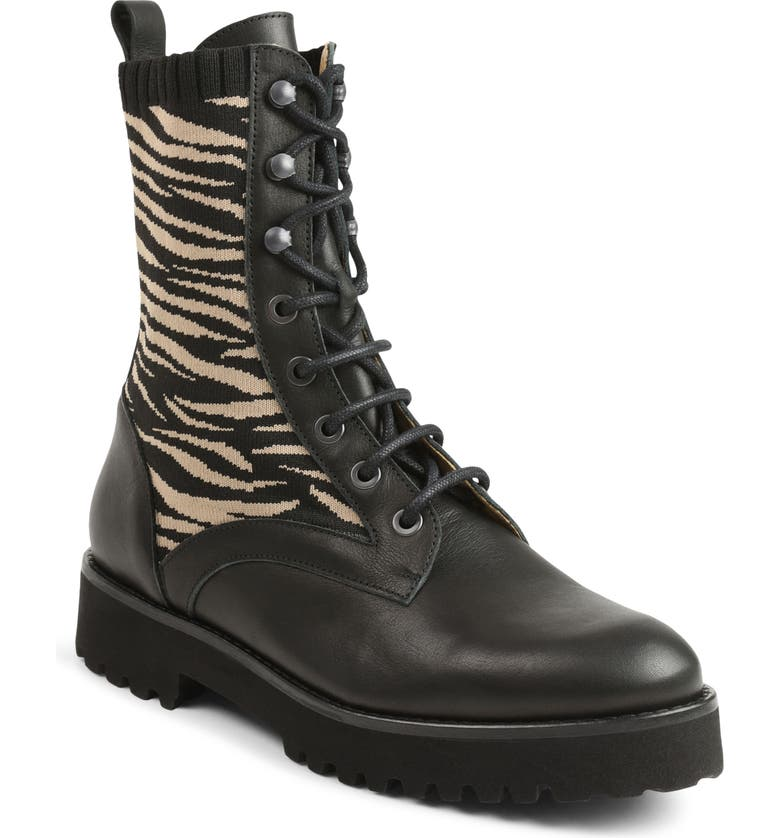 ANDRÉ ASSOUS Lace-Up Boot, Main, color, TIGER FABRIC