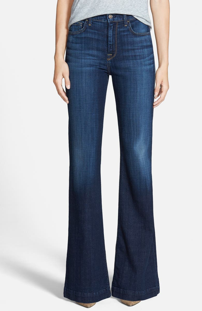 7 FOR ALL MANKIND <sup>®</sup> 'Ginger' High Rise Flare Jeans, Main, color, ROYAL BROKEN TWILL
