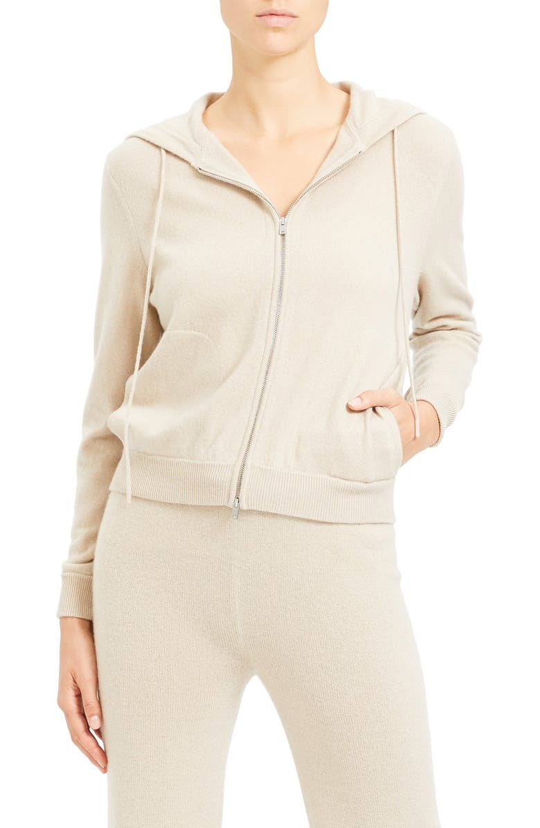 THEORY Zip Front Cashmere Hoodie, Main, color, 251