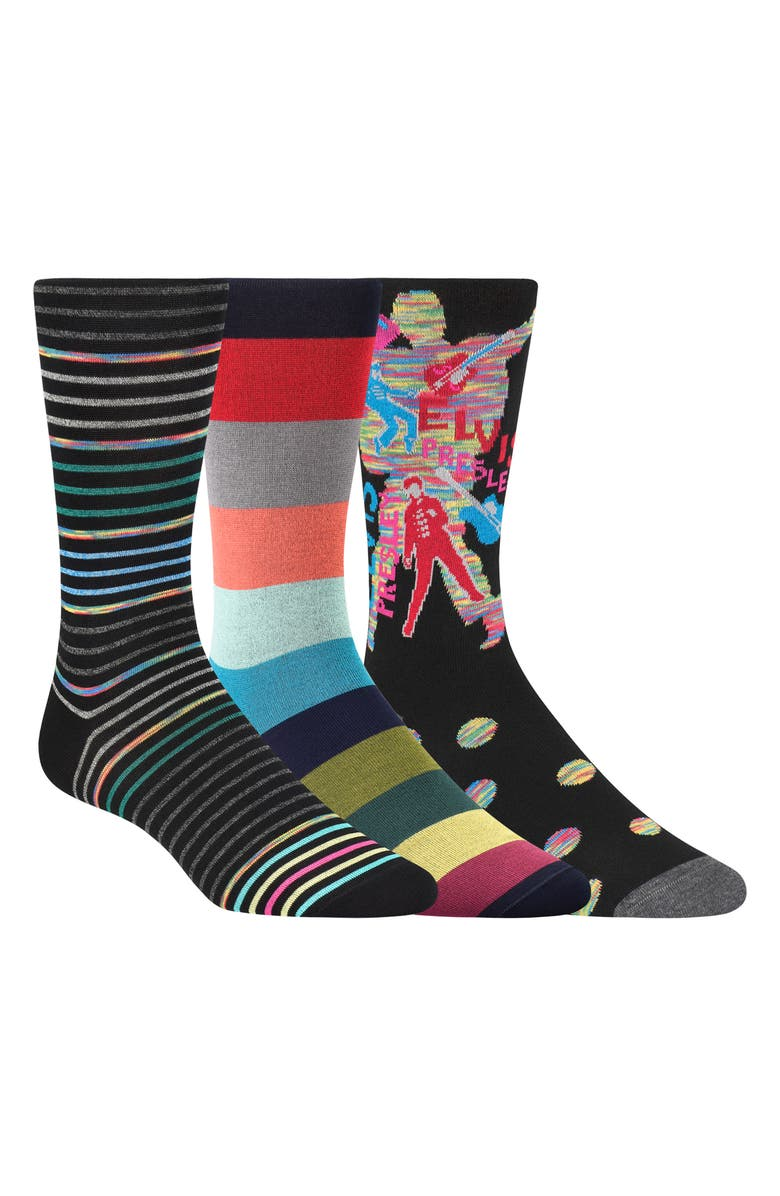 BUGATCHI 3-Pack Sock Gift Set, Main, color, 001
