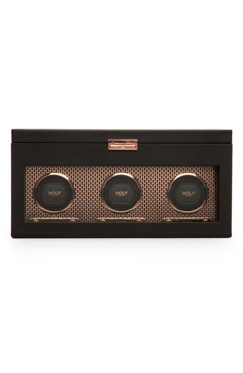 WOLF Axis Triple Watch Winder & Case, Main, color, COPPER