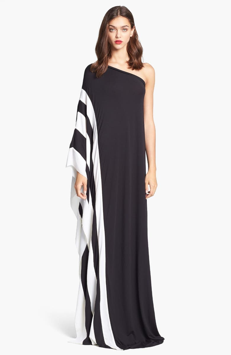 RACHEL ZOE 'Azur' One Shoulder Jersey Maxi Dress, Main, color, 001