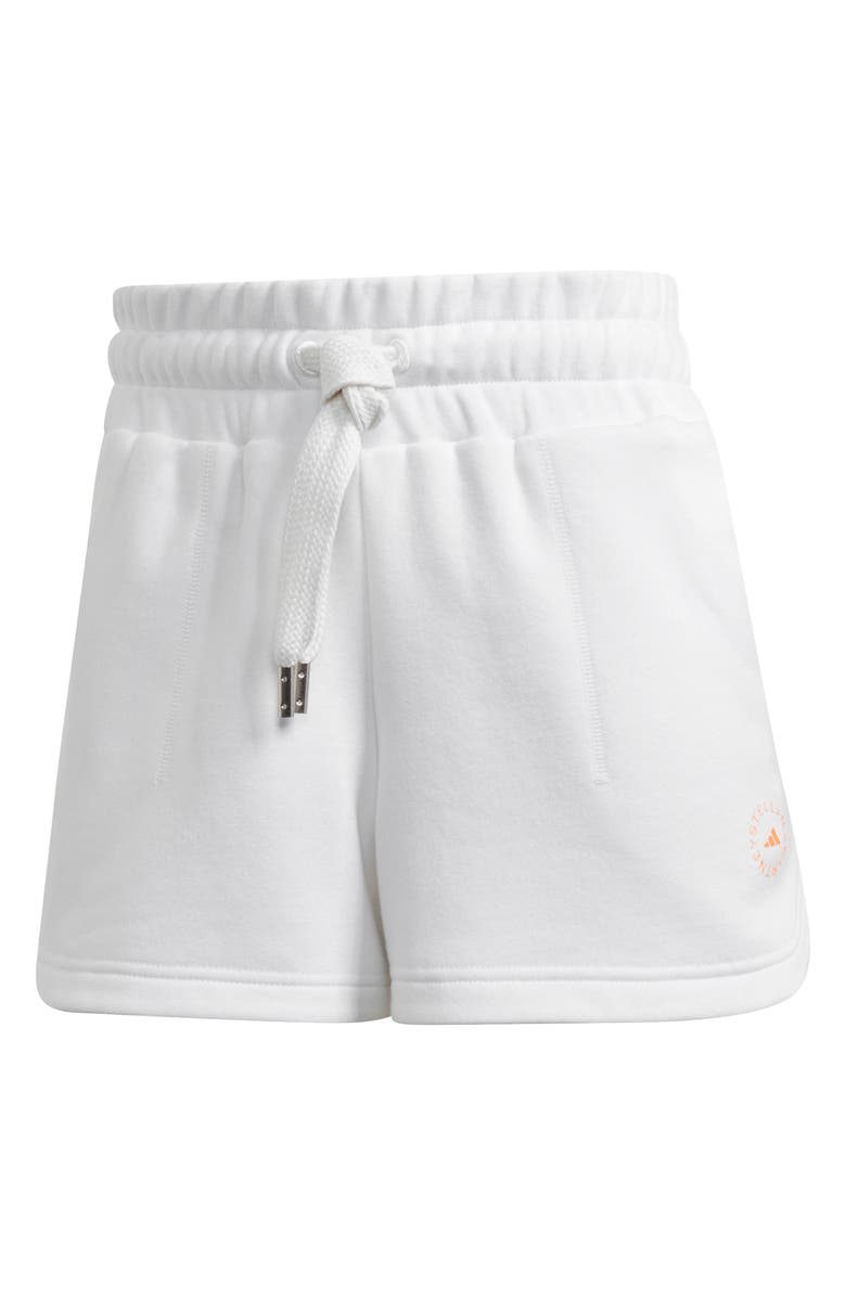 ADIDAS BY STELLA MCCARTNEY Knit Shorts, Main, color, WHITE