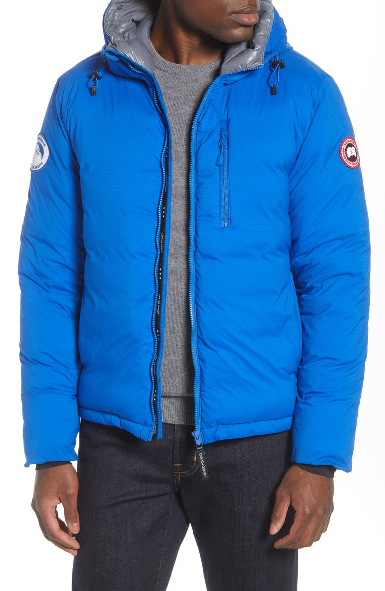 CANADA GOOSE PBI Lodge Slim Fit Packable 750 Fill Power Down Hooded Jacket, Main, color, ROYAL PBI BLUE