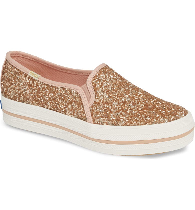 KEDS<SUP>®</SUP> FOR KATE SPADE NEW YORK Keds<sup>®</sup> x kate spade new york triple decker glitter slip-on sneaker, Main, color, 660