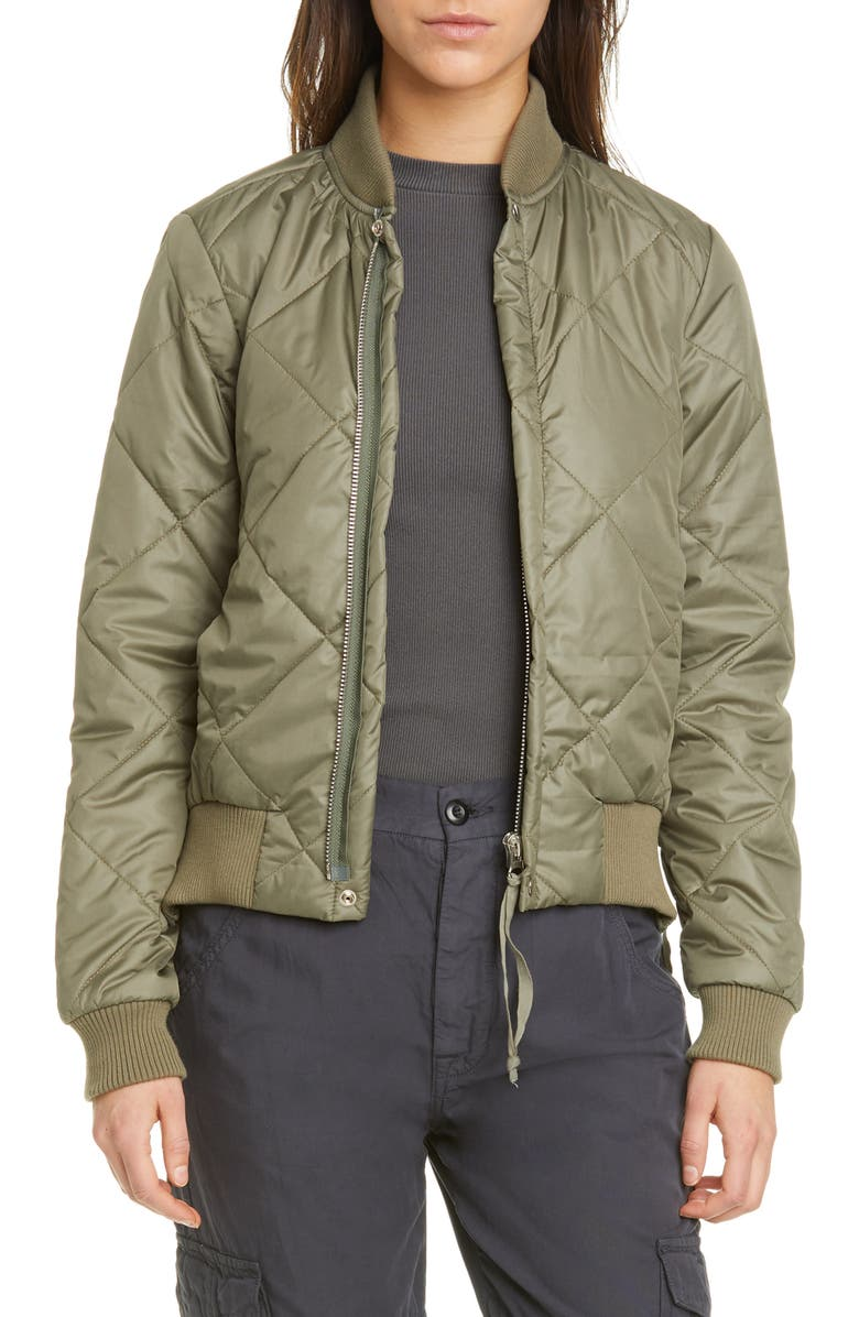 NSF CLOTHING Neil Quilted Bomber Jacket, Main, color, 363