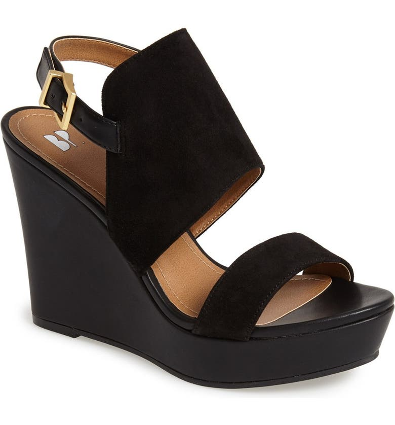 BP. 'Lena' Wedge Sandal, Main, color, 001