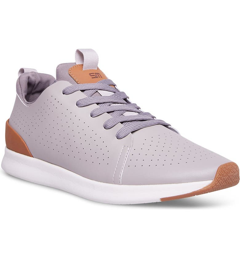 MADDEN Blaze Leather Perforated Sneaker, Main, color, GREY