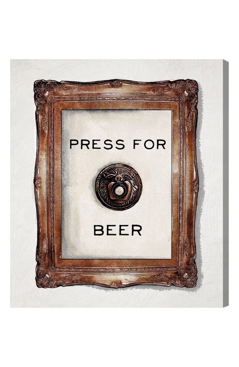OLIVER GAL Press for Beer Canvas Wall Art, Main, color, 100