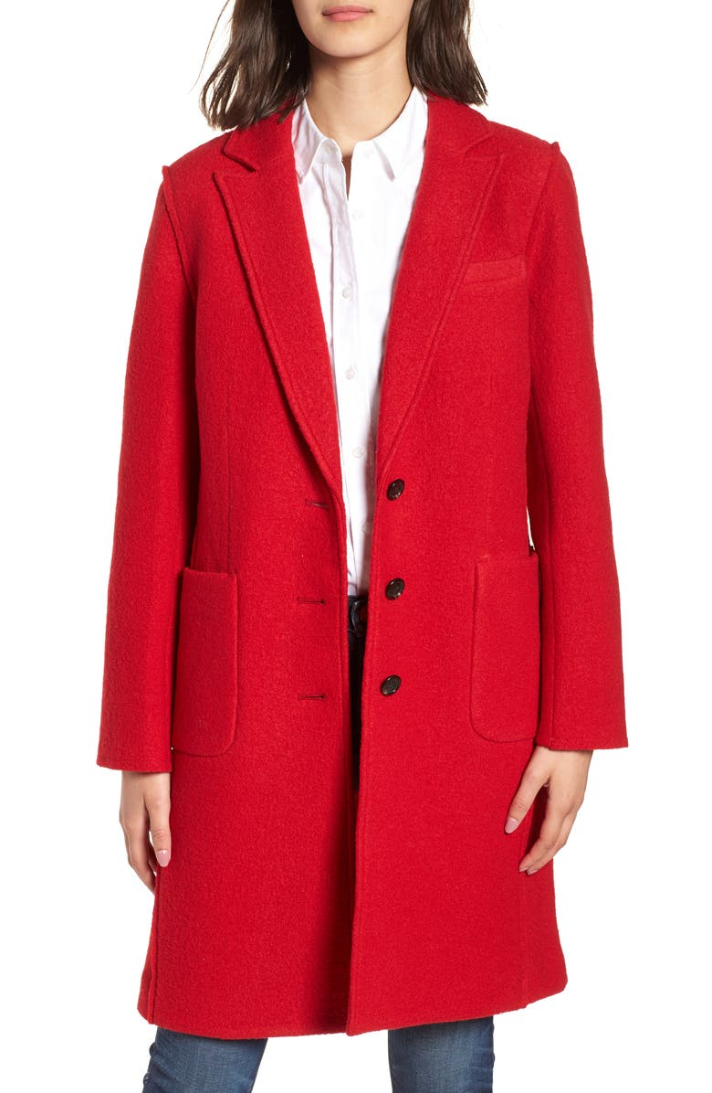 J.CREW Olga Boiled Wool Topcoat, Main, color, 600