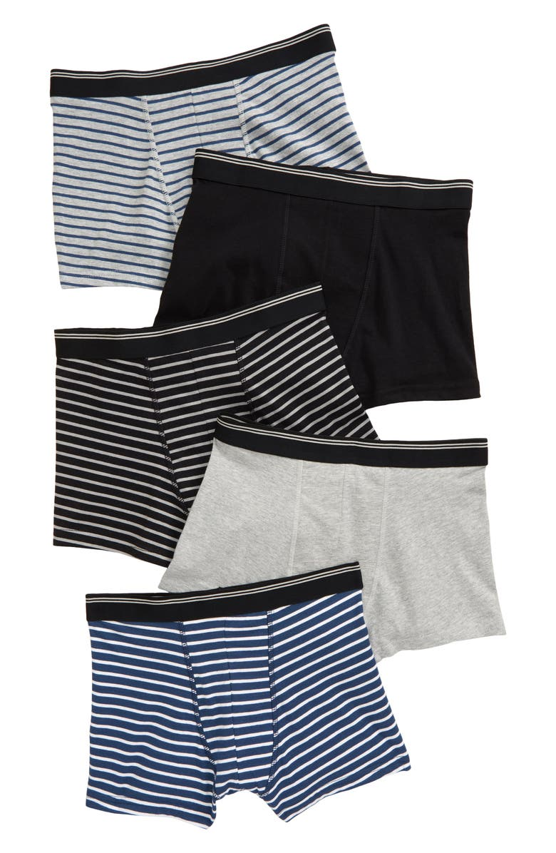 TUCKER + TATE Kids' 5-Pack Trunks, Main, color, BRETON PACK