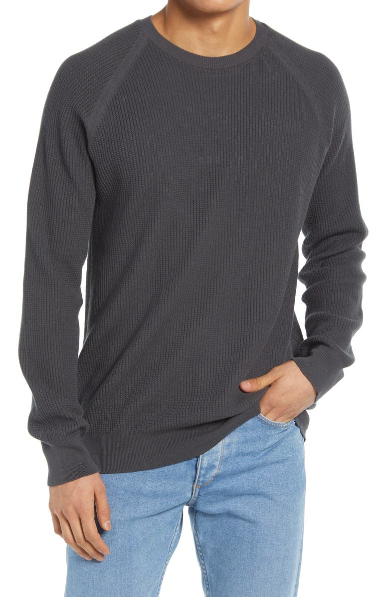 BENSON Textured Sweater, Main, color, CHARCOAL