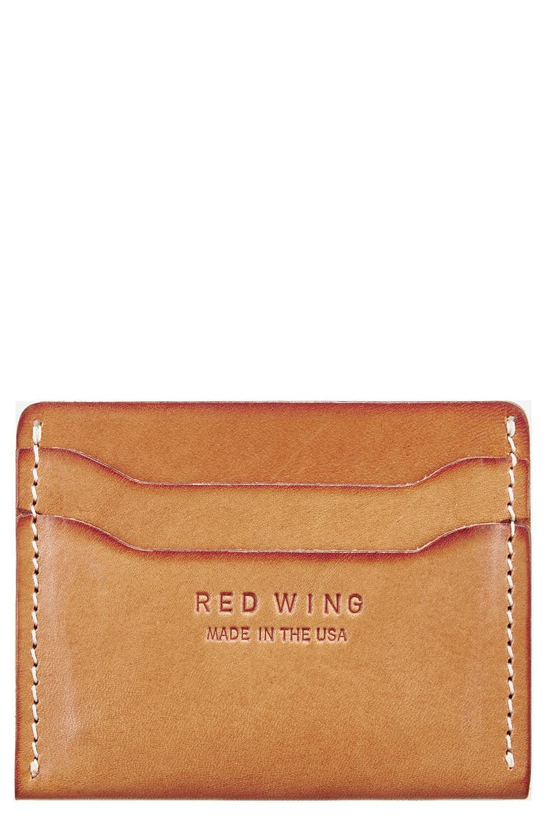 RED WING Leather Card Case, Main, color, 250