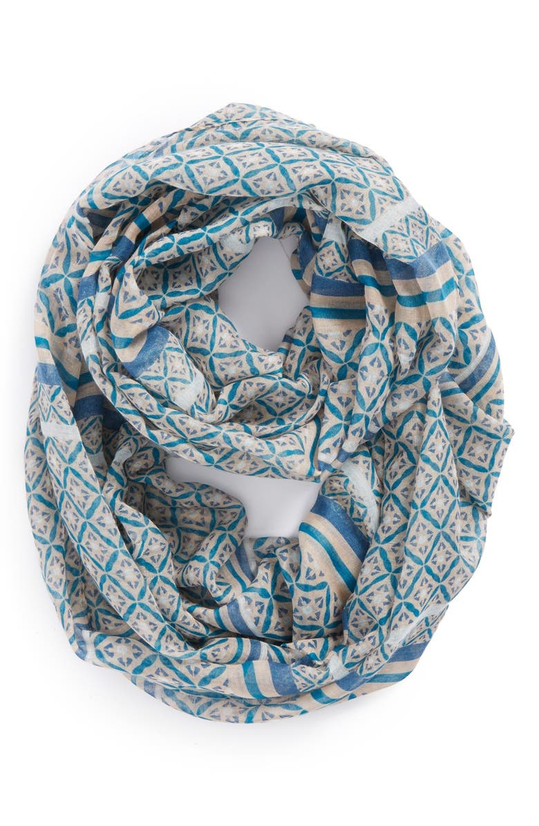 BP. Tile Print Infinity Scarf, Main, color, 400