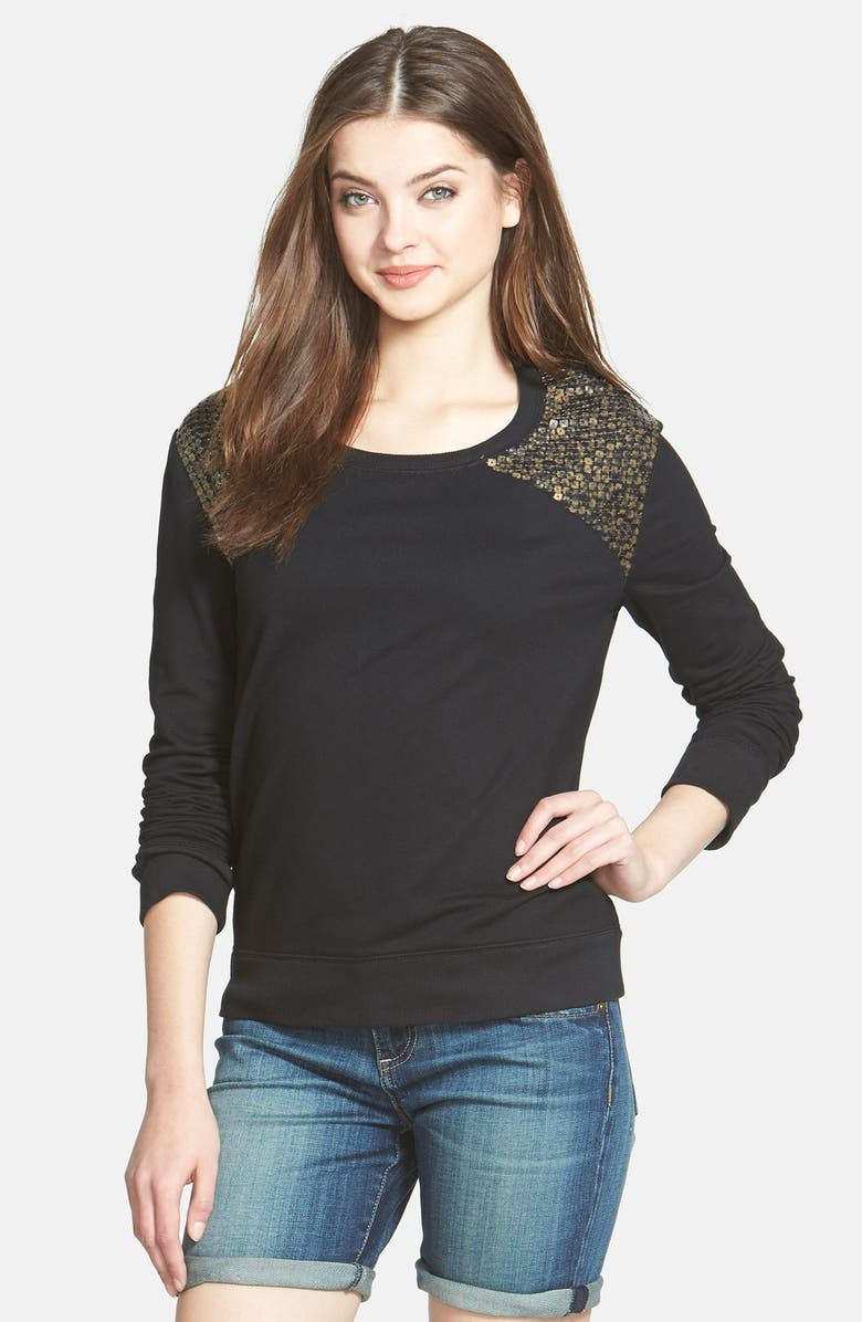 HALOGEN<SUP>®</SUP> Embroidered Sweatshirt, Main, color, 001