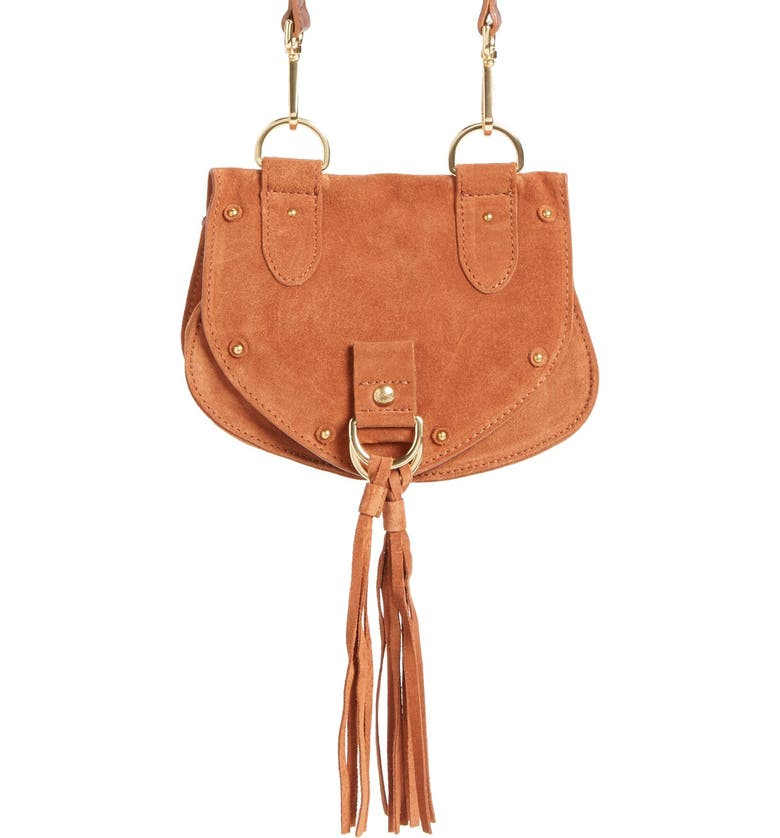 SEE BY CHLOÉ 'Small Collins' Leather & Suede Messenger Bag, Main, color, 200